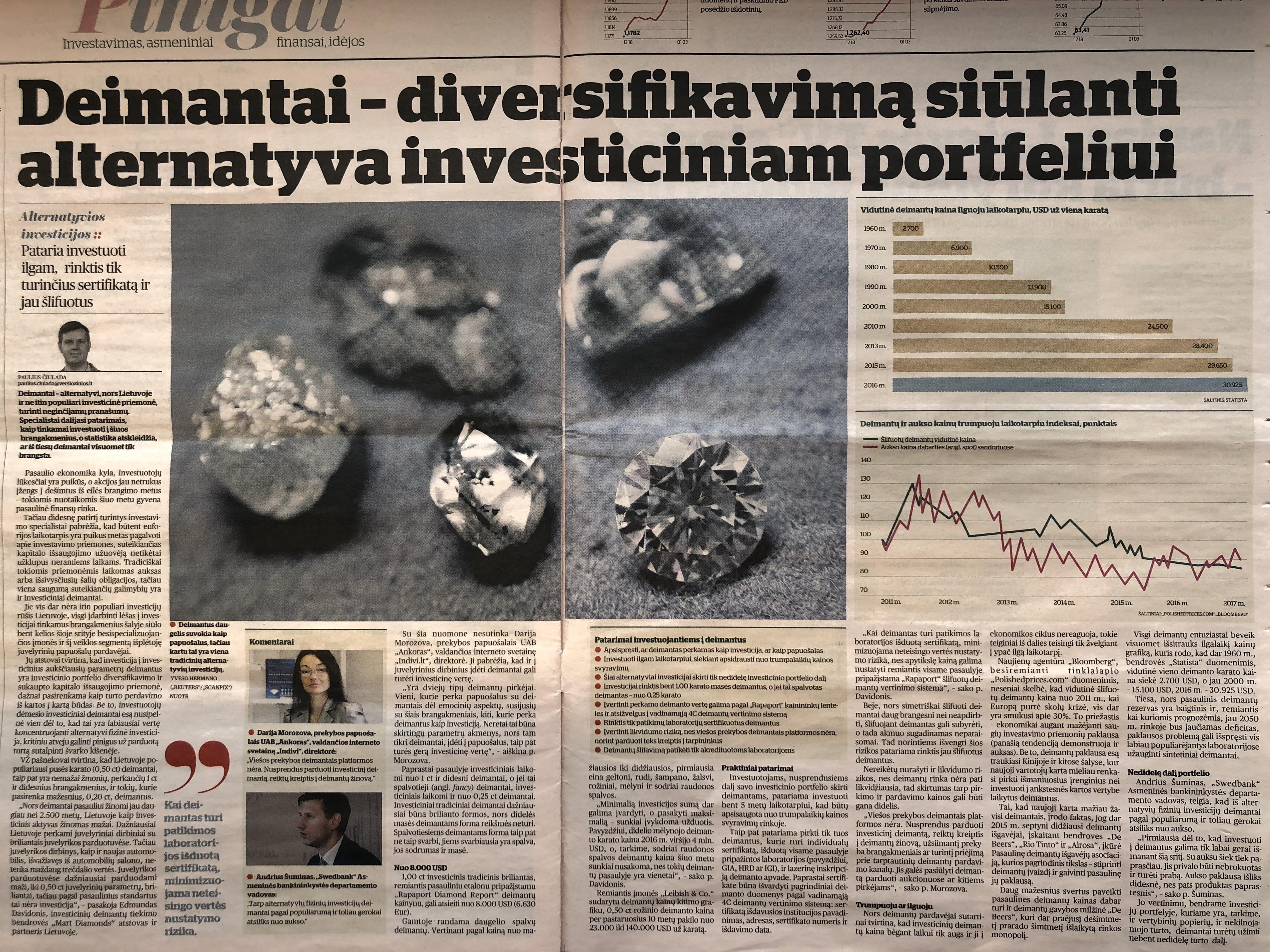 Deimantai kaip investicija